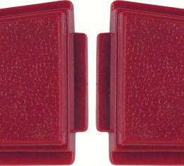OER 1969-70 Steering Wheel Horn Button Red (pair) K213R