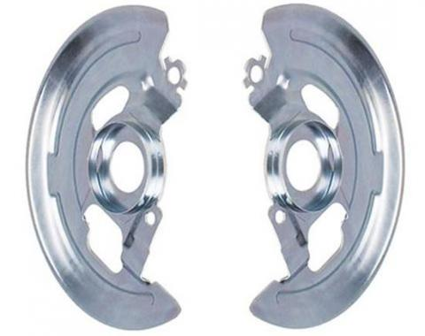 Front Disc Brake Backing Plates, Single Piston, Pair, 1964-1974