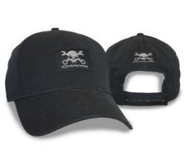 Heavy Washed Black Cap with Mr. Crosswrench Patch