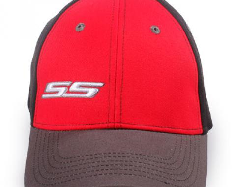 Chevy Super Sport Fitted Hat, Red/Black