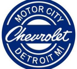Tin Sign, Chevrolet Motor City Detroit